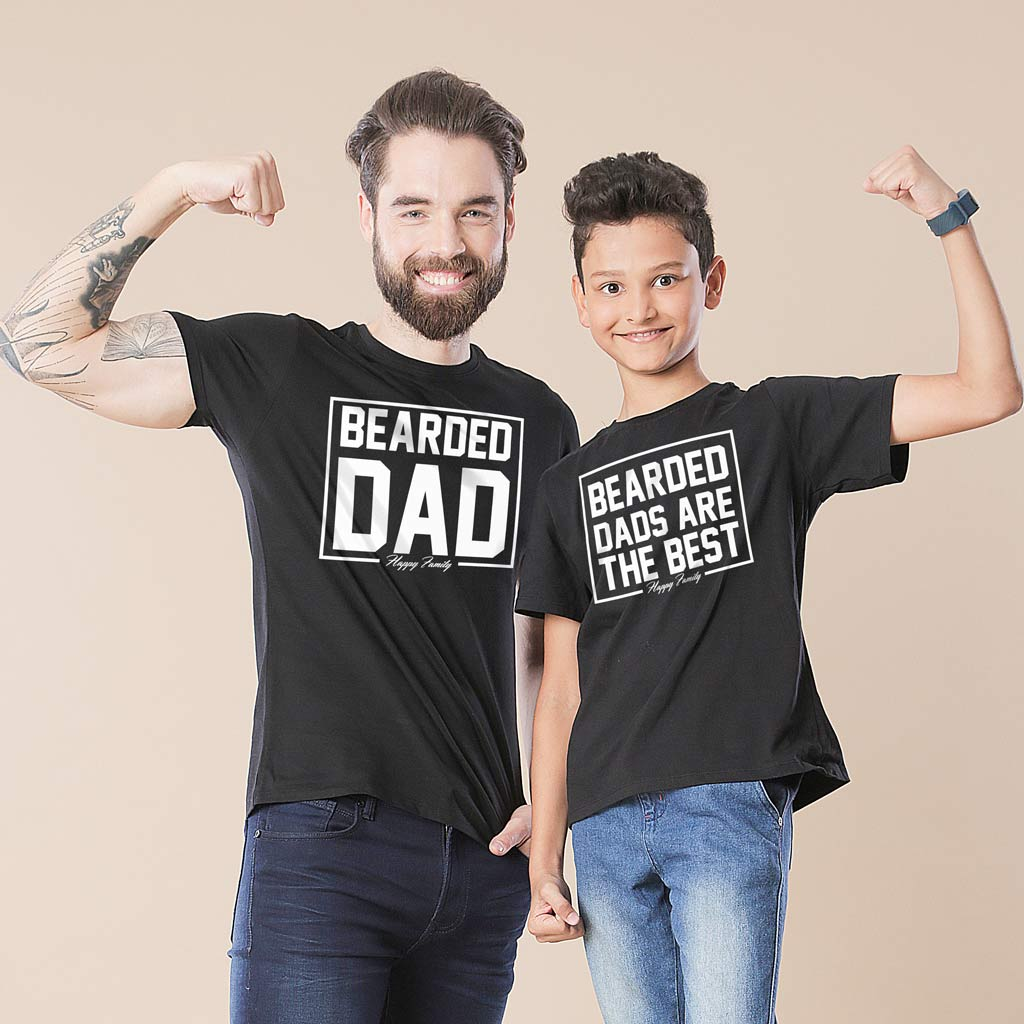 87ac59c8 Bearded Dads Are the Best Father And Son Tshirt - BonOrganik