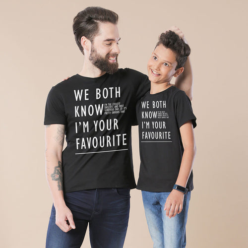 Black We Both Know Father And Son Tshirt