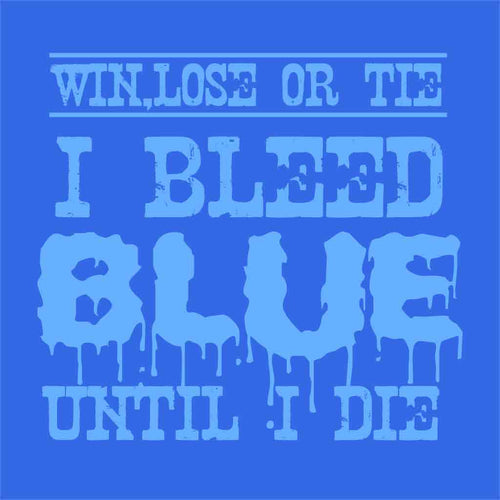 I Bleed Blue Dad And Son Tshirt