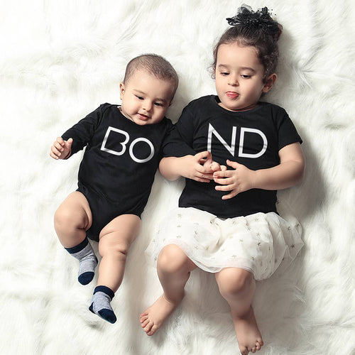 Bond, Matching Bodysuit And Tee For Brother And Sister