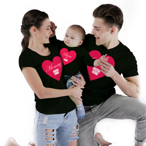 Family Hearts custom bodysuit and Tees