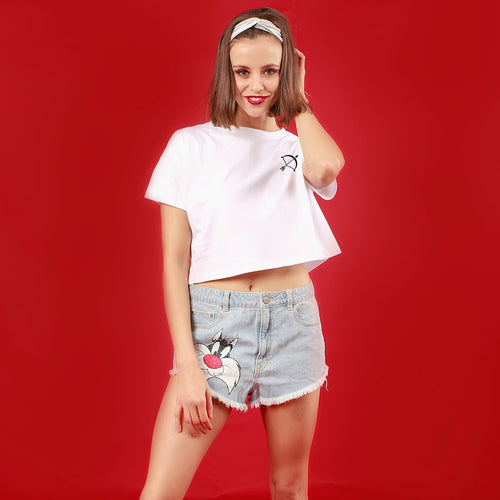 Heart Cupid, Matching Couple Crop Top And Tee