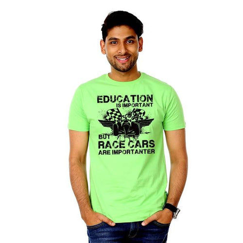 Education is Important but race cars are Importanter Tees