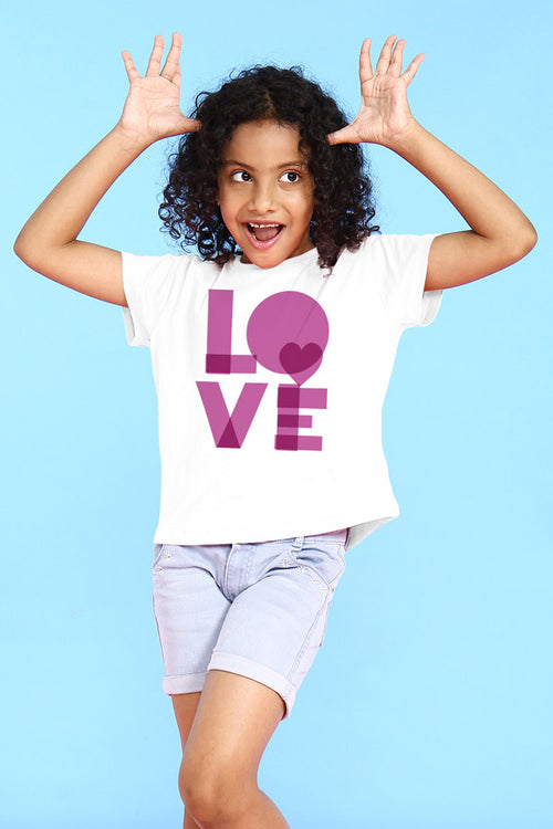 Bright Love Mom & Daughter Tees for Daughter