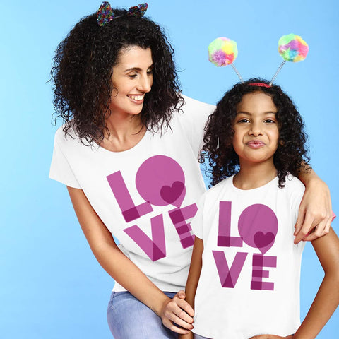 Bright Love Mom & Daughter Tees