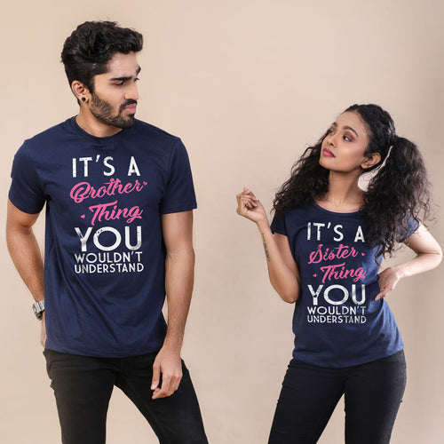 Brother-Sister Thing Adult Siblings Tees