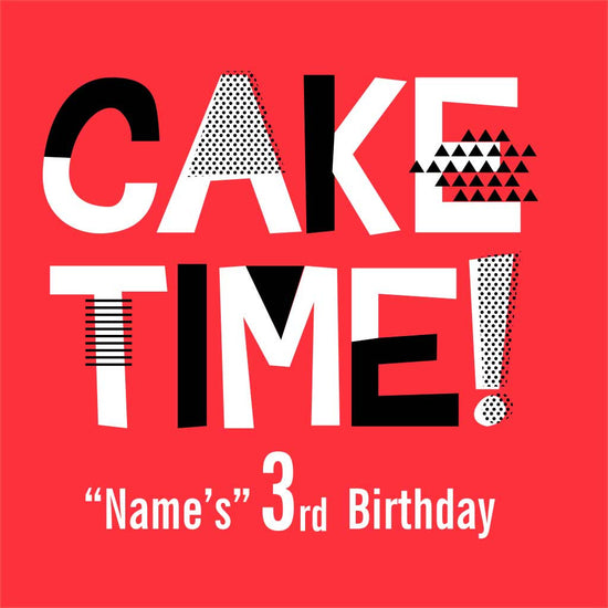 Cake Time! 3rd Birthday Tee