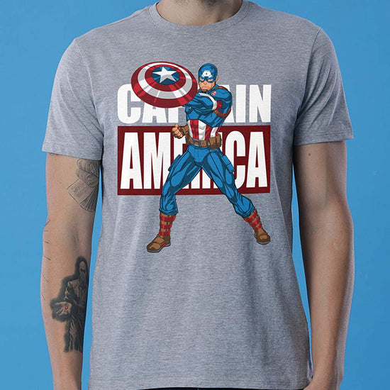 Captain America Always, Matching Marvel Tees For Dad And Son