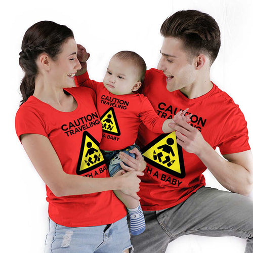 Caution Travelling with a baby Bodysuit and Tees