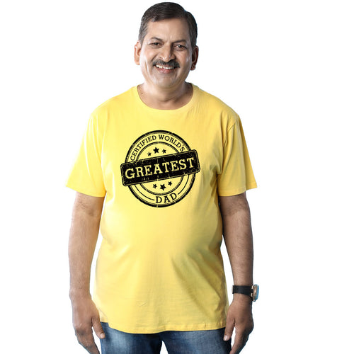 Certified World's Greatest Dad, Tee For Dad