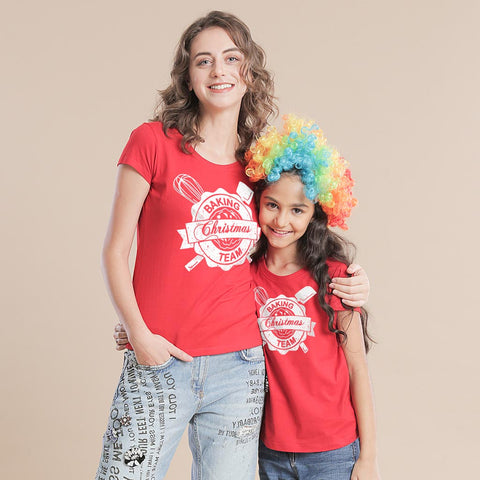 Christmas Team, Mom And Daughter Tees