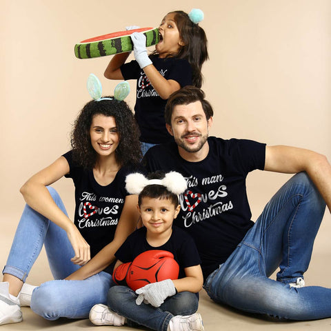 Christmas love, family tees