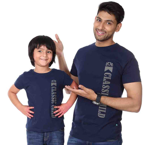 Navy Classic Child/Mild Father-Son Tees