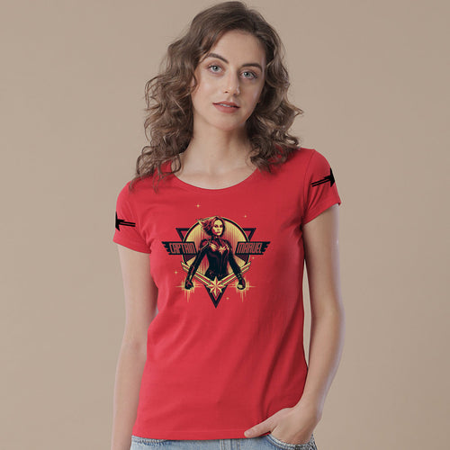 Captain Marvel Red, Tees For Women