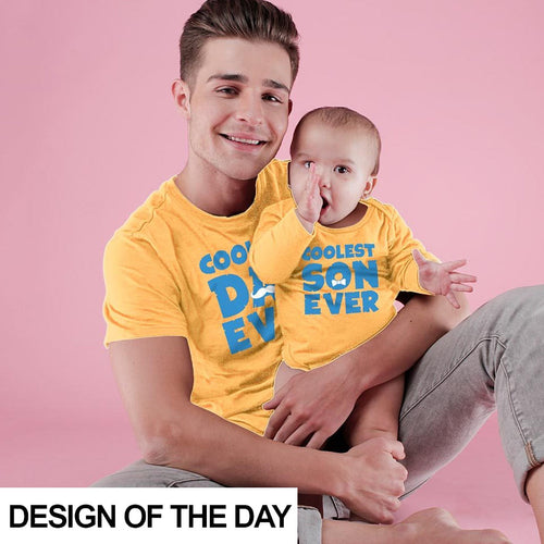 Coolest dad and son ever Bodysuit and Tees