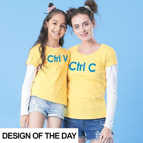 Ctrl V+ Ctrl C, Matching Mom And Daughter Tees