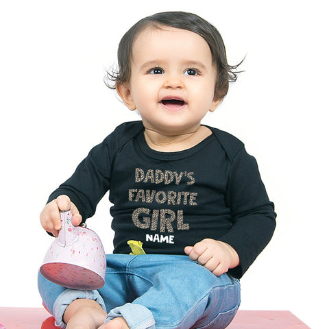 Daddy's Favorite Girl,Personalized Bodysuit For Baby