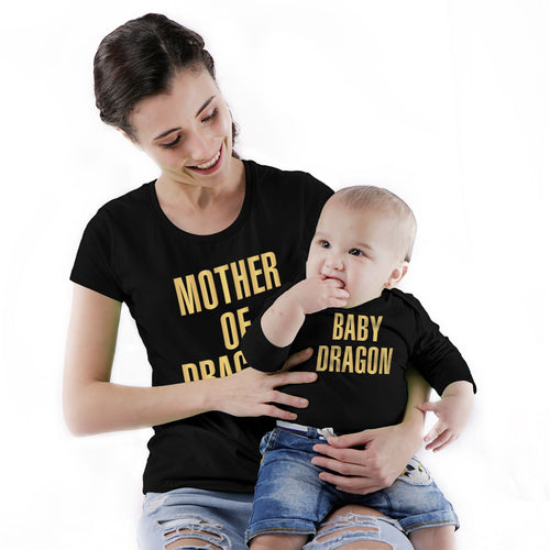 Dragon Mom & Baby Bodysuit And Tees