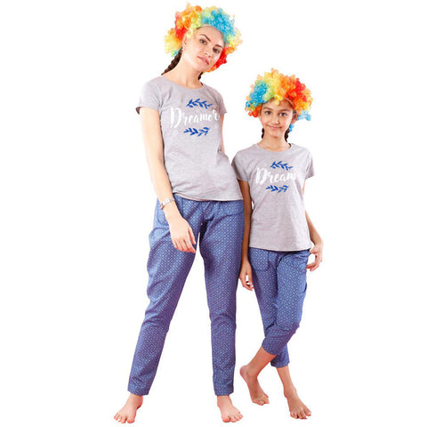 Dreamers, Matching Night Wear For Mother And Daughter