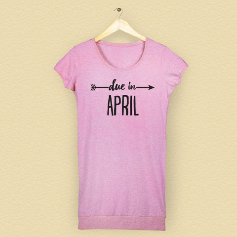 Due In April Tunic Tee