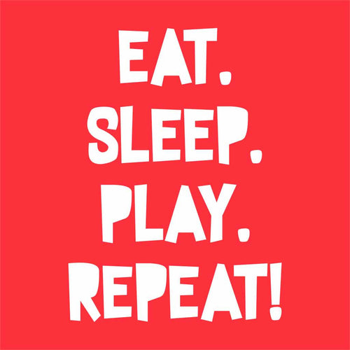 Eat Sleep Play Repeat Babysuit