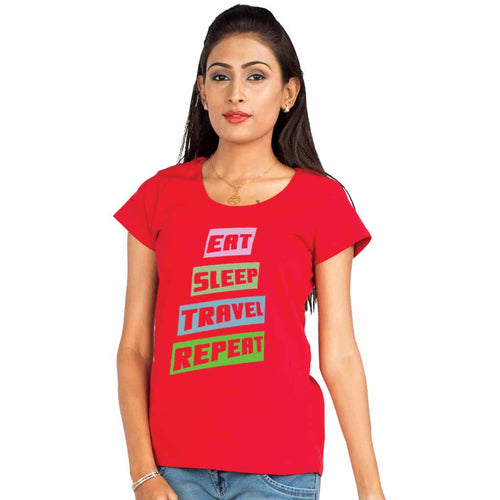 Eat Sleep Travel Repeat Family Tees For Mother
