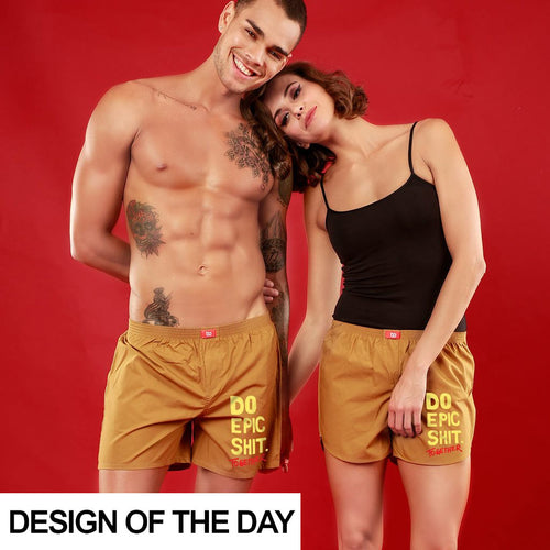 Epic Together Matching Musted Yellow Couple Boxers