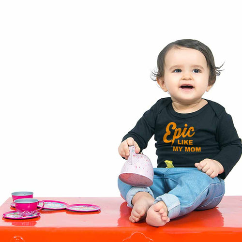 Epic & smart mom & son bodysuit and tees For Baby