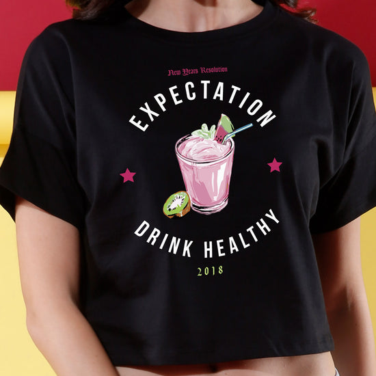 Expectation Vs Reality Matching Couples Crop Top & Tee