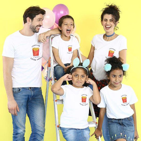 Extra Fries Matching Family New Years Tees