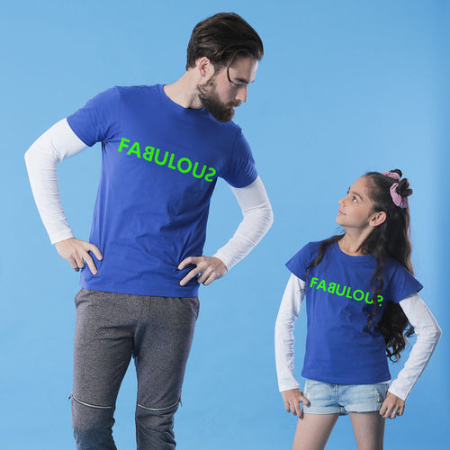Fabulous Dad & Daughter Matching Tshirt