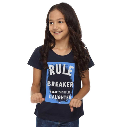 Rule Maker and Rule Breaker Dad and Daughter Tees For Daughter