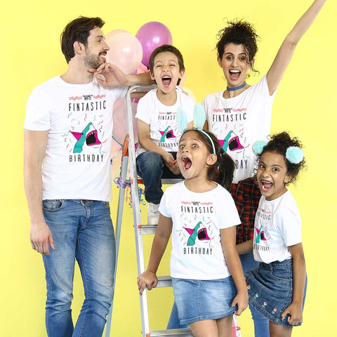 Fintastic Birthday Family Tees
