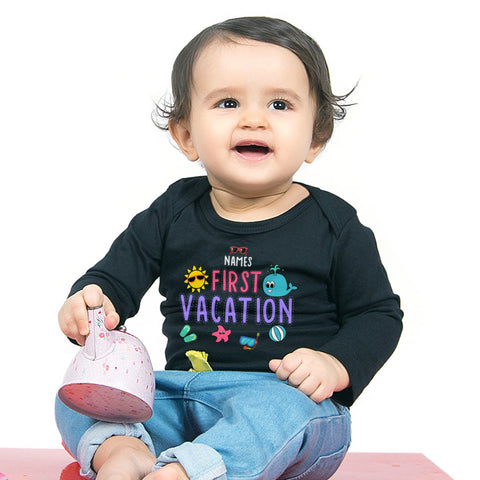 First Vacation, Personalized Bodysuit For Baby