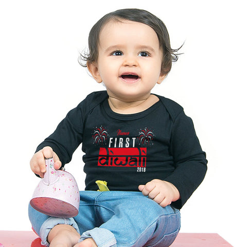 First Diwali,  Personalized Bodysuit For Baby