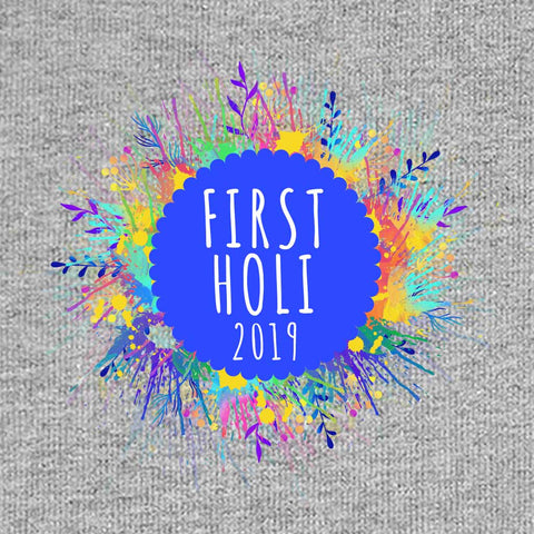 First Holi,  Personalized Bodysuit For Baby