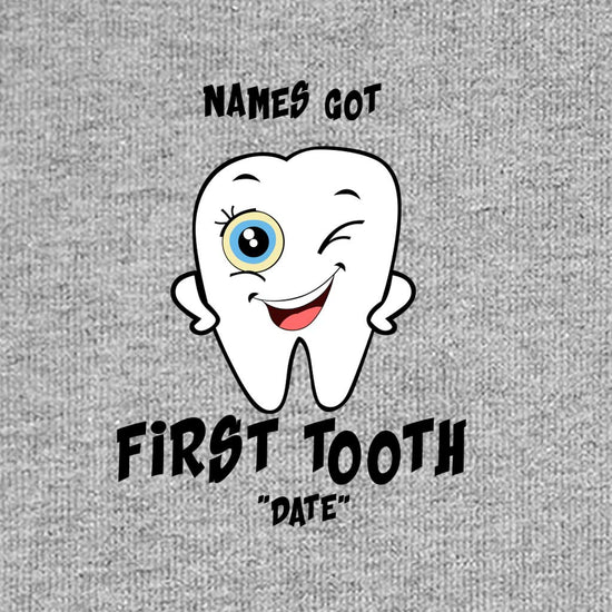 First Tooth, Personalized Bodysuit For Baby