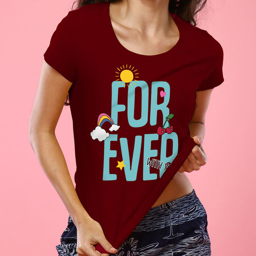 Forever, Matching Tee And Bodysuit For Mom And Baby