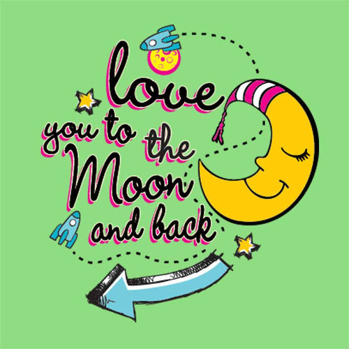 Love you to the moon and back bodysuit and Tees
