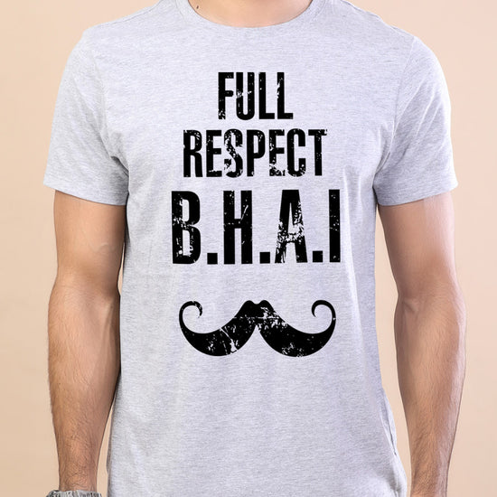 Full Respect Bhai-Behen Adult Siblings Tees