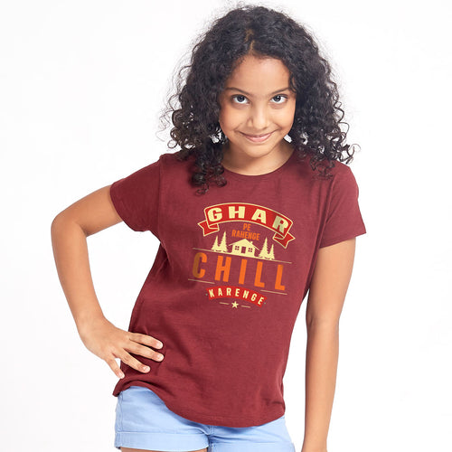 Ghar Pe Rahenge Chill Karenge Matching Tees For Family
