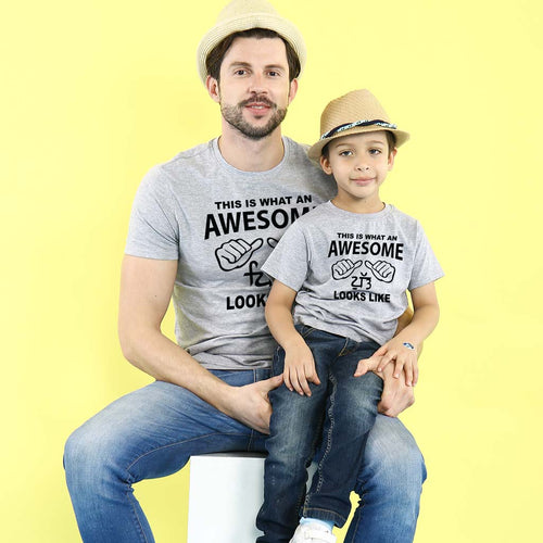 Punjabi Awesome Dad/Son, Matching Tees For Dad And Son