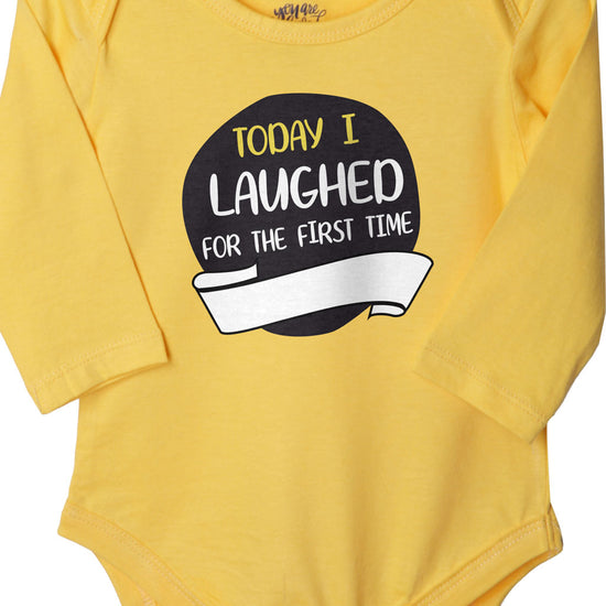 Today I Laughed For The First Time (Yellow), Bodysuit For Baby