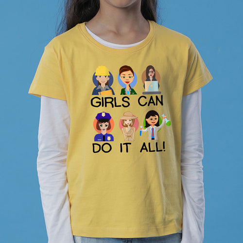 Girls Can Do It All Mom Daughter Tees