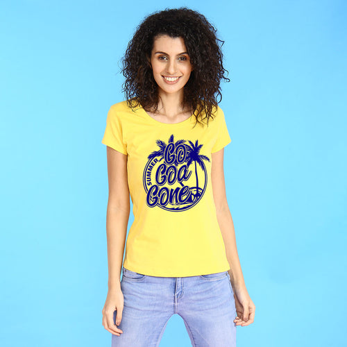 Go Goa Gone, Matching Family Travel Tees For Women