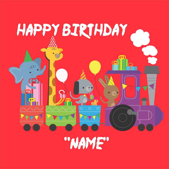 Happy Train Birthday Tee