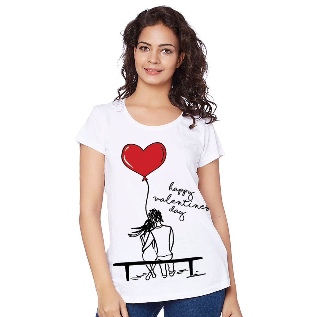 Happy Valentine S Day Couple Tees For Women