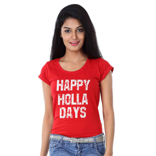 Happy Holla Days, Matching Travel Tees For Women