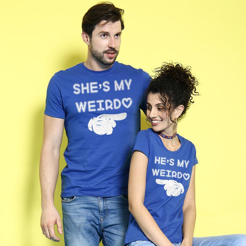 He/She Is My Weirdo, Matching Couples Tees