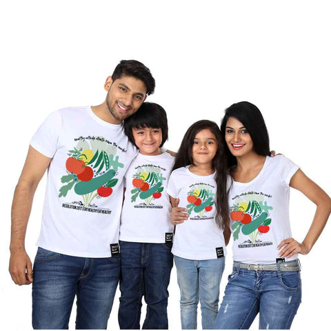 Stay Healthy Eat Healthy Tees